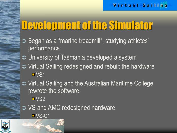 Development of the simulator