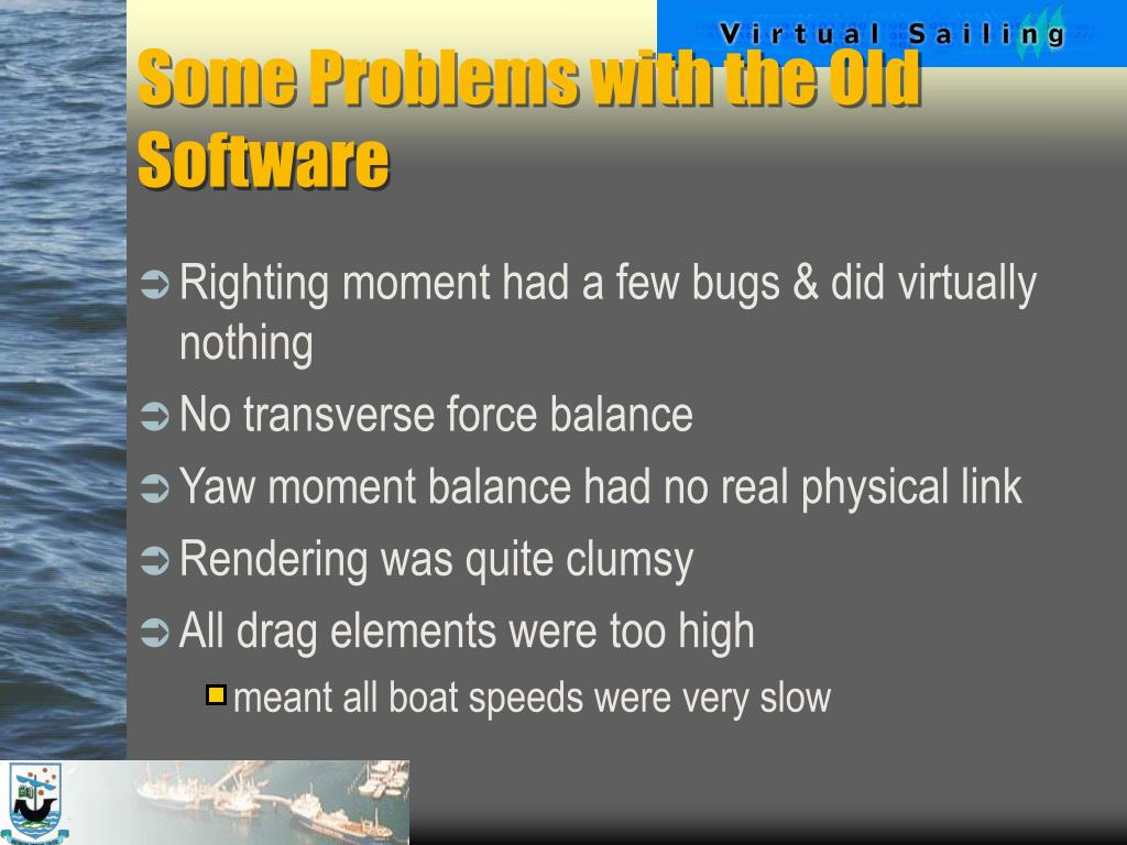 Some Problems with the Old Software