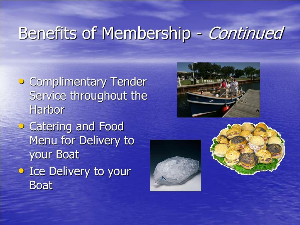 Benefits of Membership -