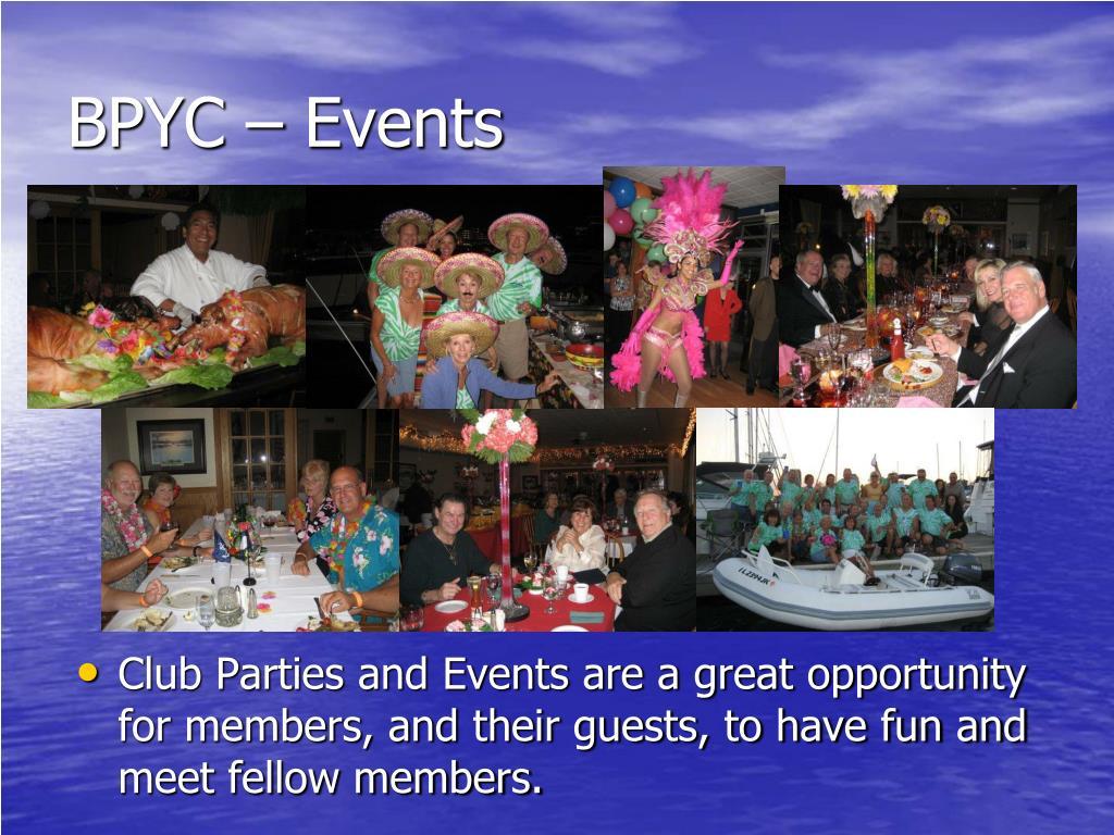 BPYC – Events