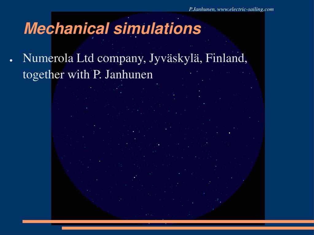 P.Janhunen, www.electric-sailing.com