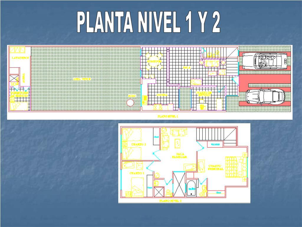 PLANTA NIVEL 1 Y 2