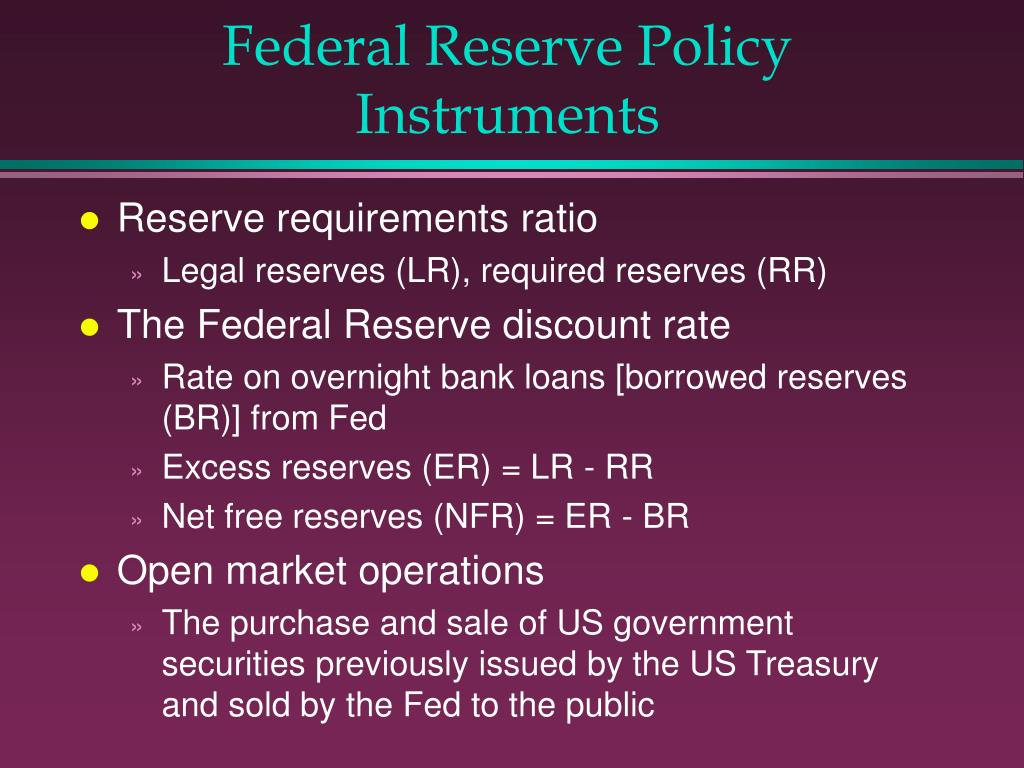 Federal Reserve Policy Instruments