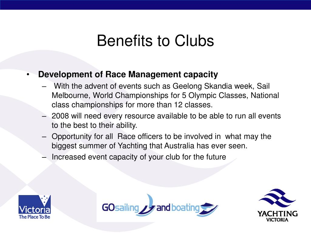 Benefits to Clubs
