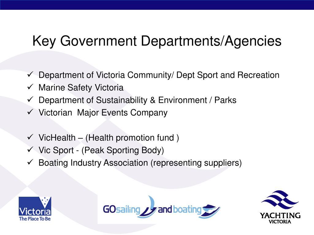 Key Government Departments/Agencies