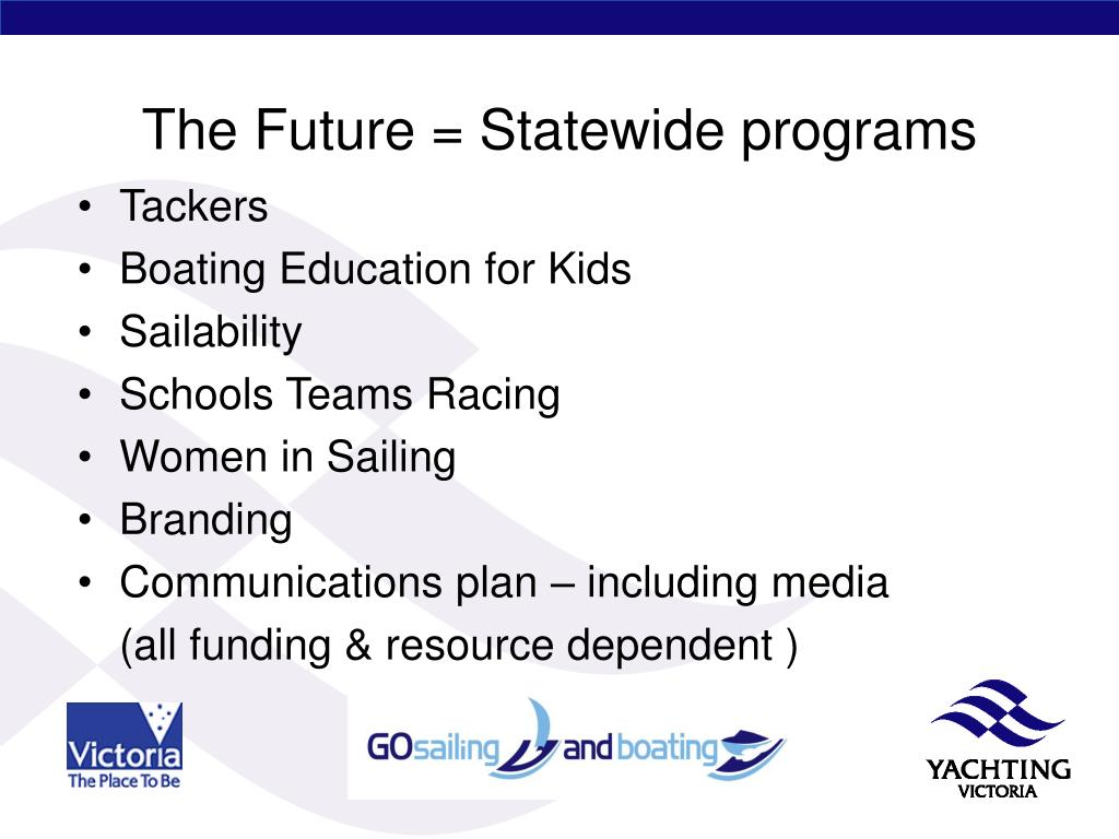 The Future = Statewide programs