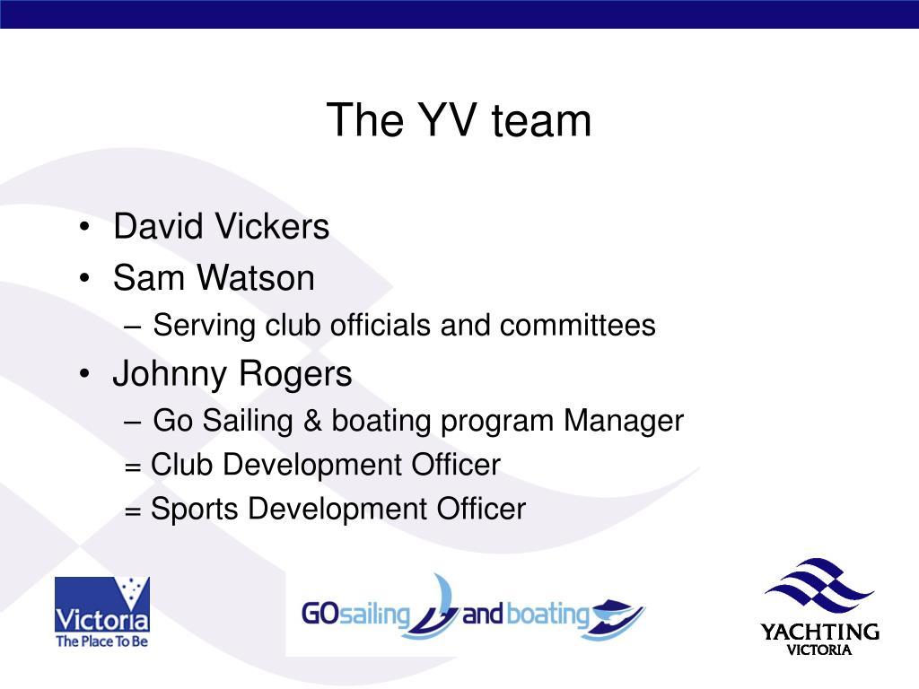 The YV team