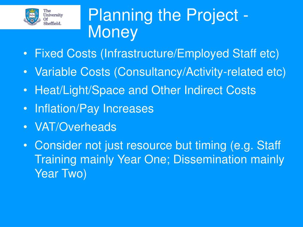 Planning the Project - Money
