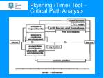 planning time tool critical path analysis