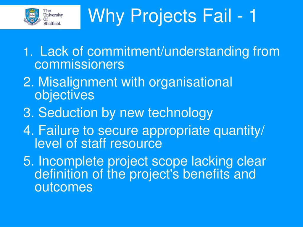 Why Projects Fail - 1