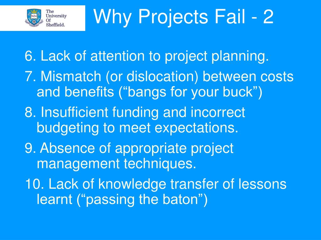 Why Projects Fail - 2