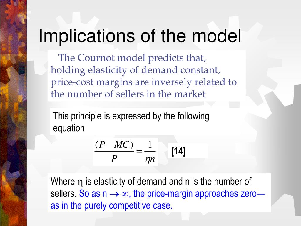 Implications of the model