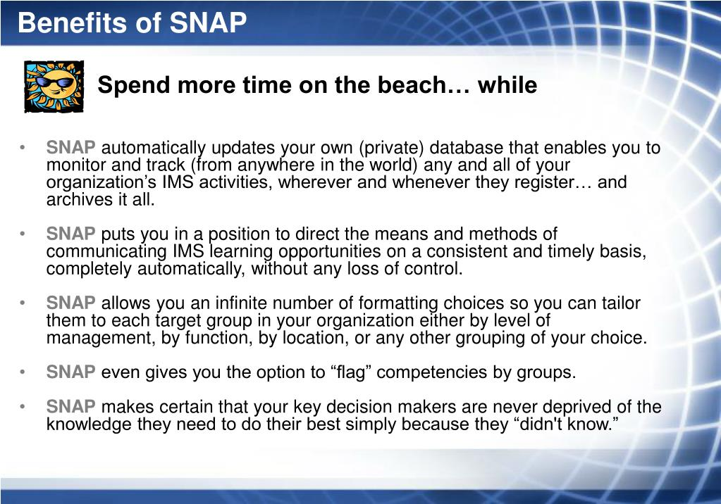 Benefits of SNAP