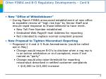 other finra and b d regulatory developments cont d