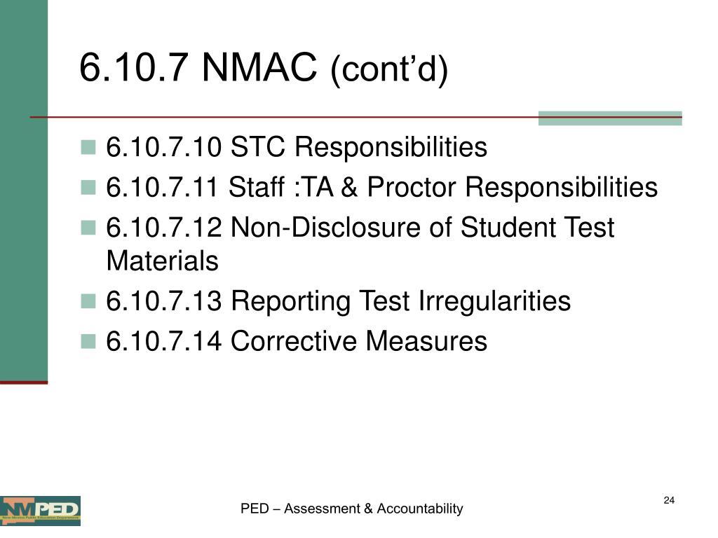 6.10.7 NMAC
