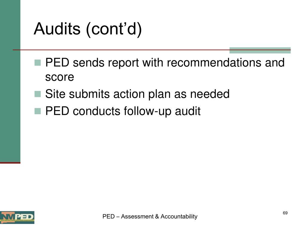 Audits (cont'd)