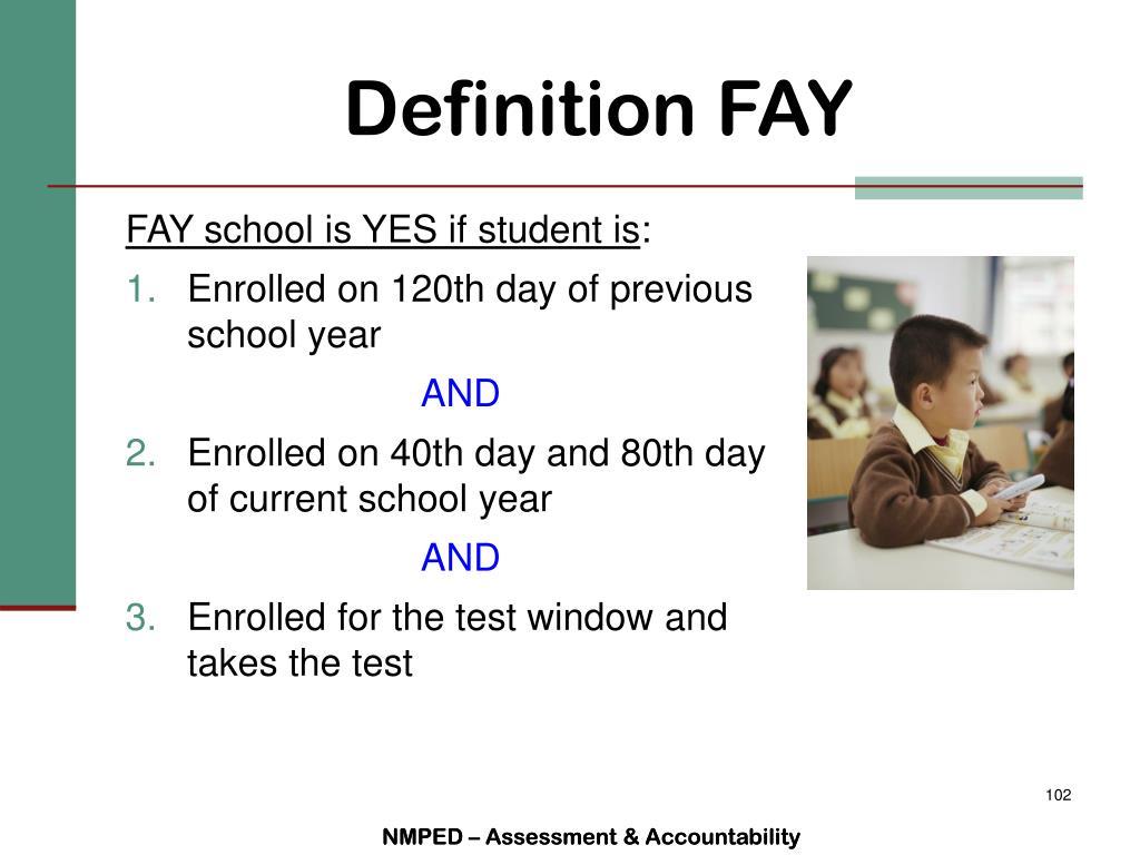 Definition FAY