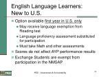 english language learners new to u s