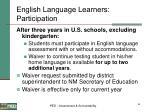 english language learners participation