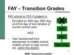 fay transition grades