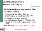 new mexico statewide assessment program