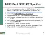 nmelpa nmelpt specifics