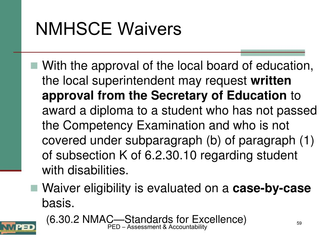 NMHSCE Waivers