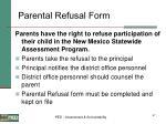 parental refusal form