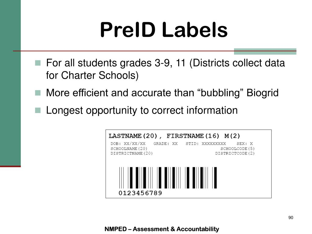 PreID Labels