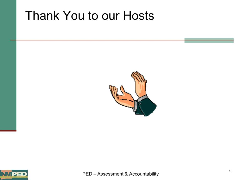 Thank You to our Hosts