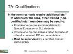 ta qualifications46