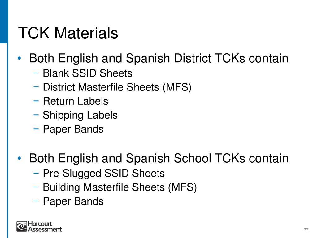TCK Materials