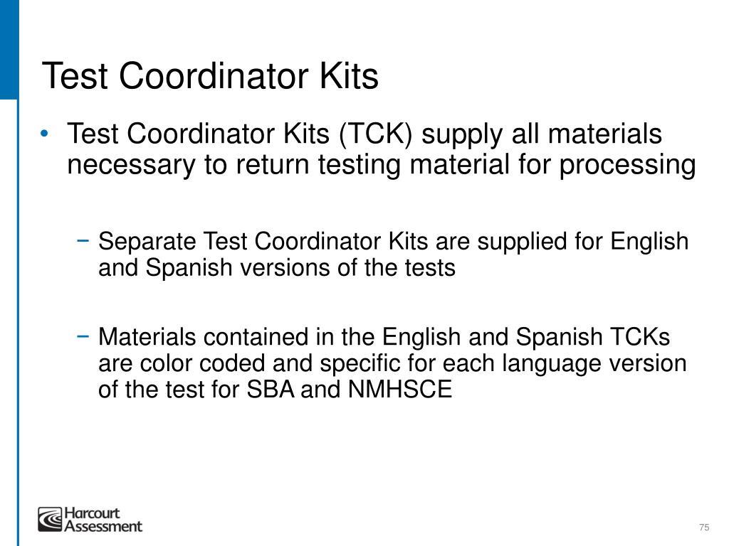 Test Coordinator Kits