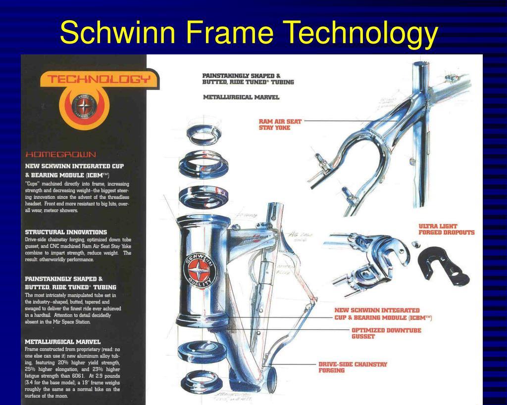Schwinn Frame Technology