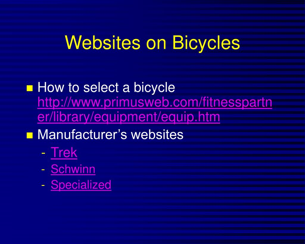 Websites on Bicycles