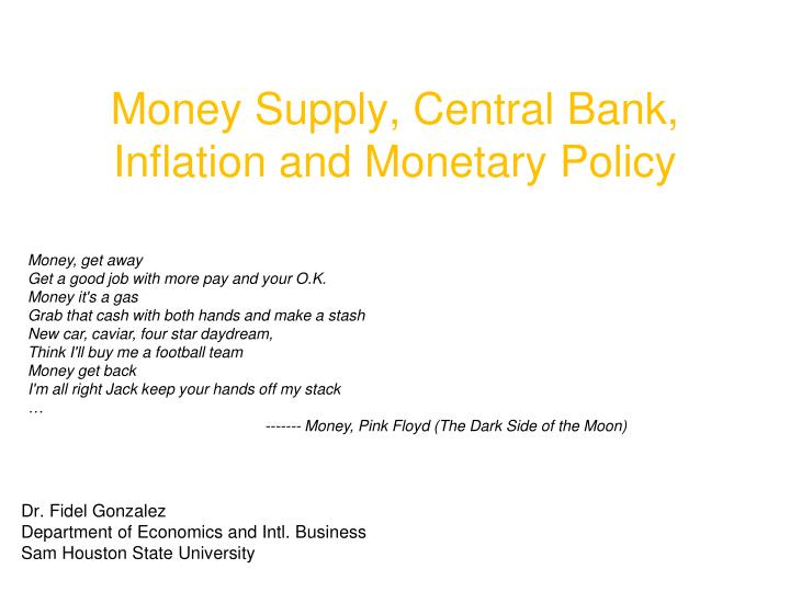 Money supply central bank inflation and monetary policy l.jpg