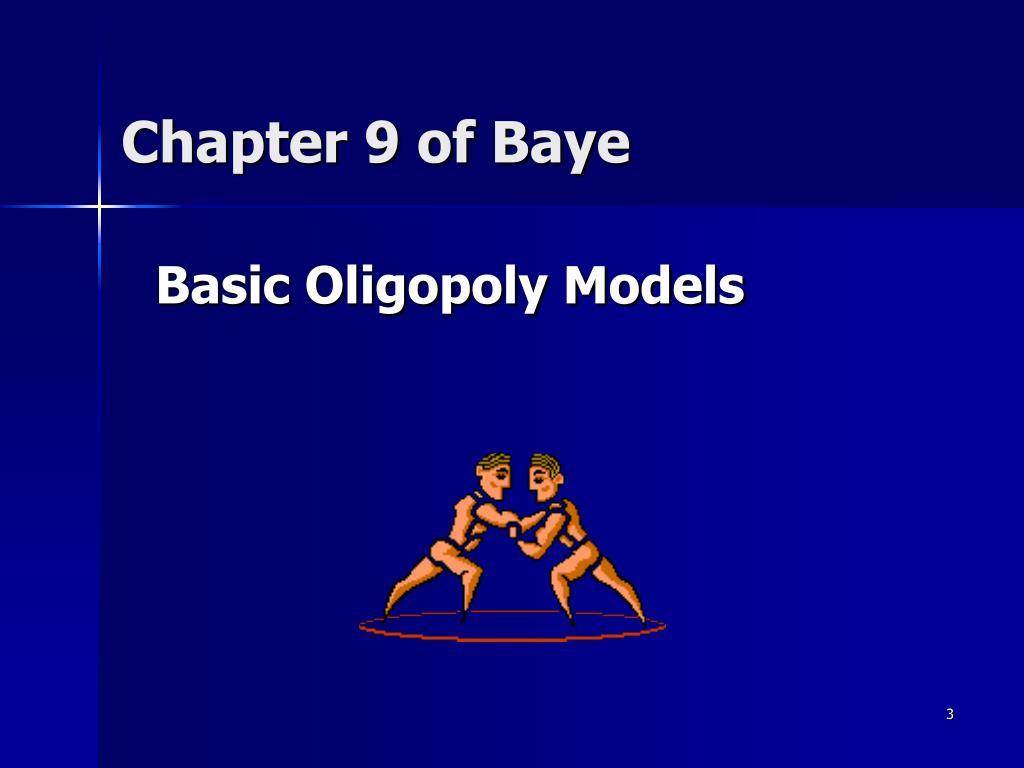 Chapter 9 of Baye