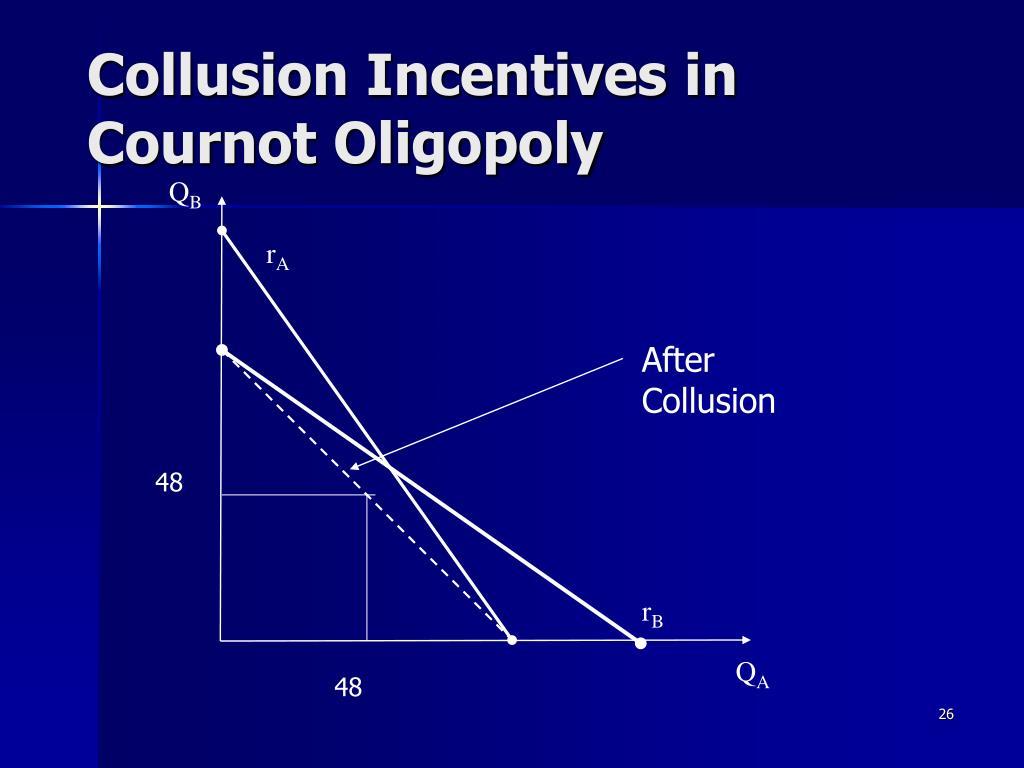 Collusion Incentives in Cournot Oligopoly
