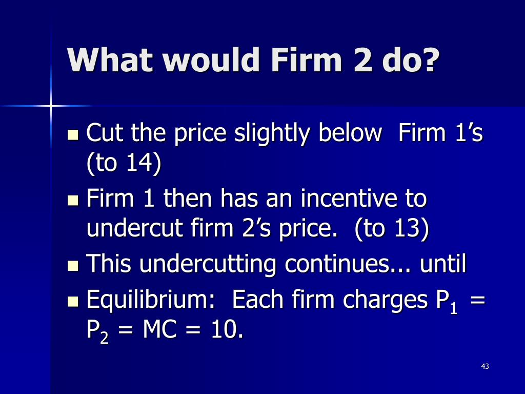 What would Firm 2 do?