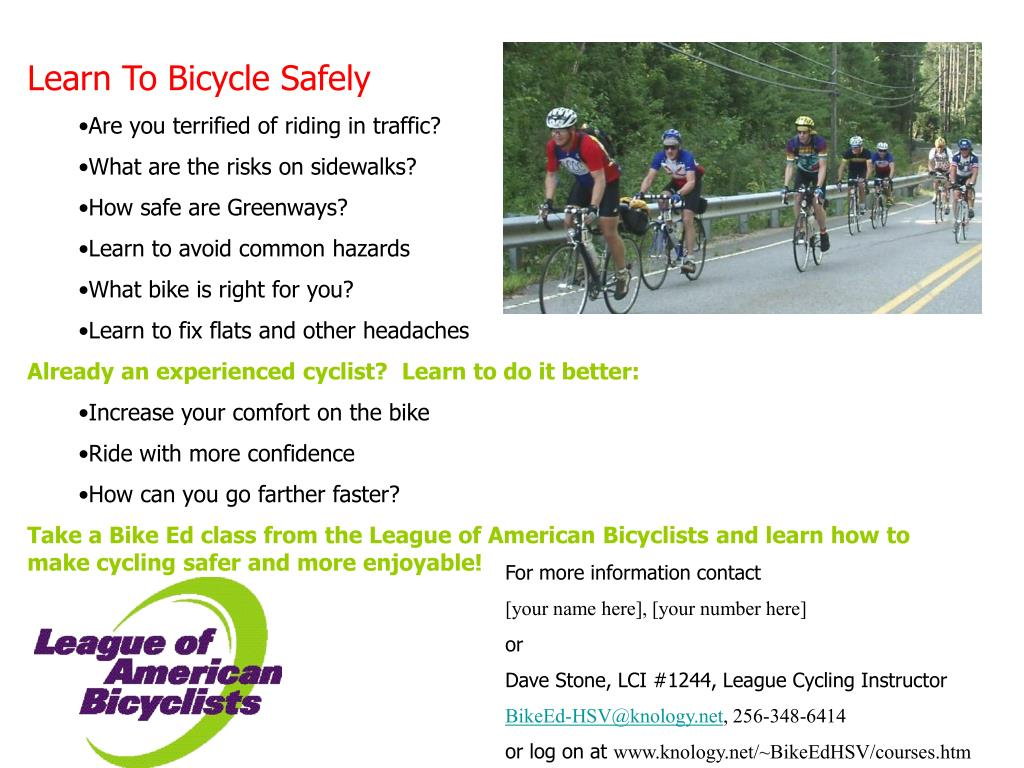 Learn To Bicycle Safely