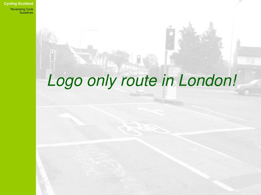 Logo only route in London!