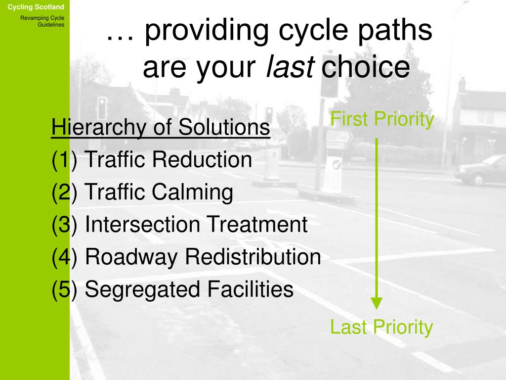 … providing cycle paths   are your