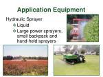application equipment