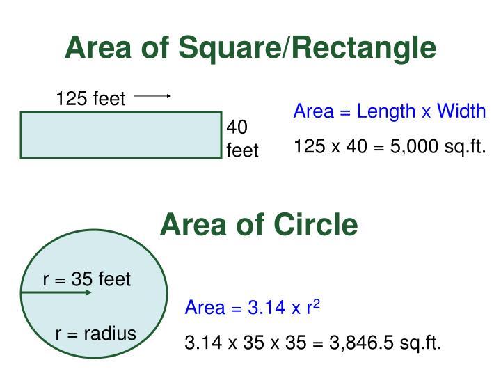 r = 35 feet