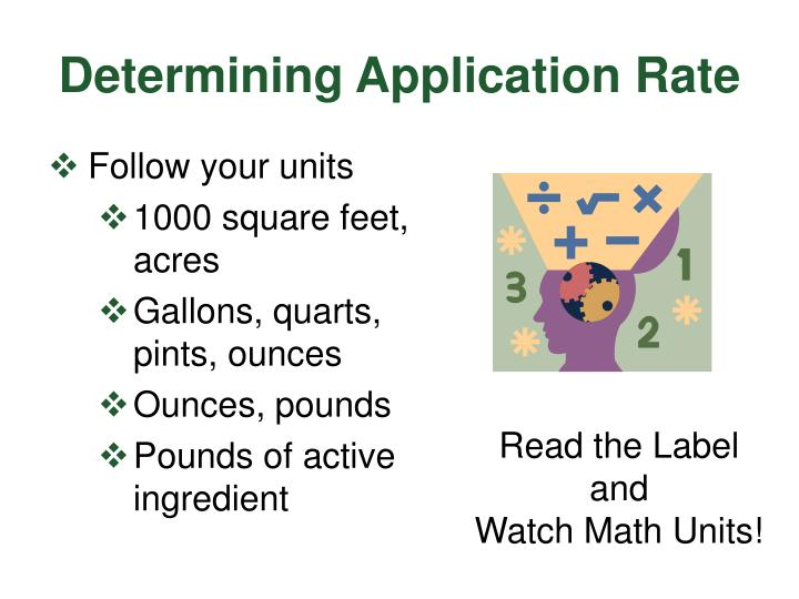 Determining Application Rate