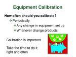 equipment calibration7