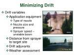 minimizing drift1
