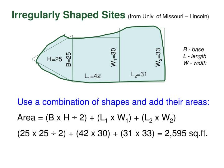 Irregularly Shaped Sites