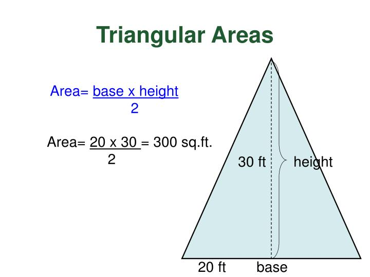 Triangular Areas