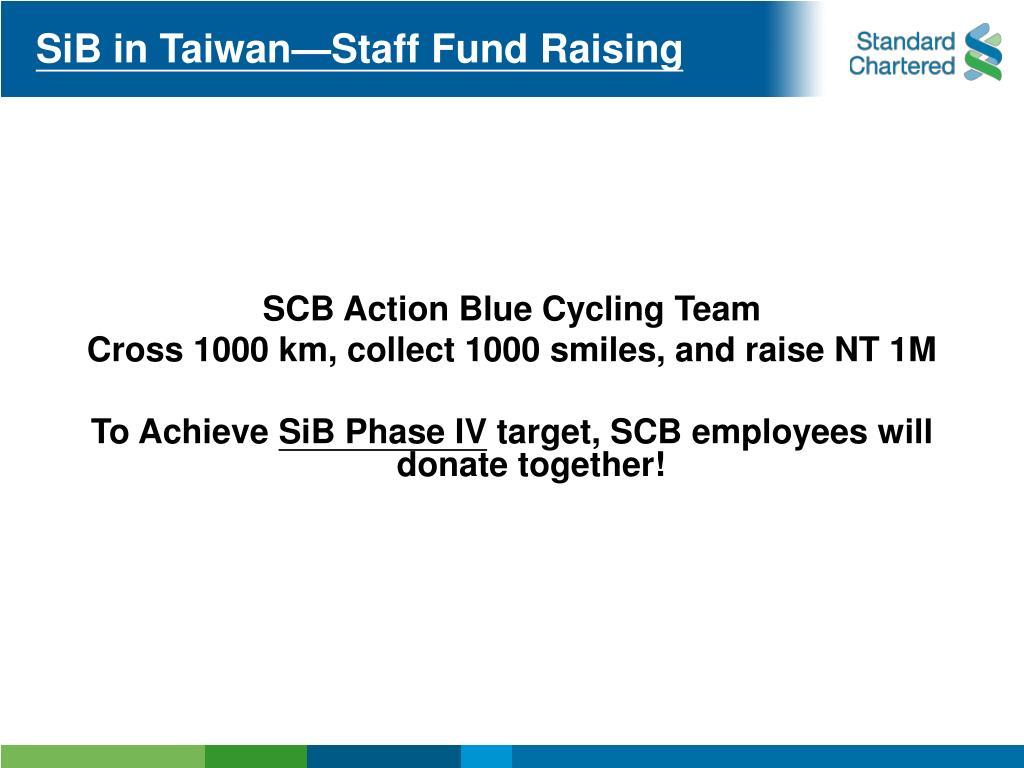 SiB in Taiwan—Staff Fund Raising